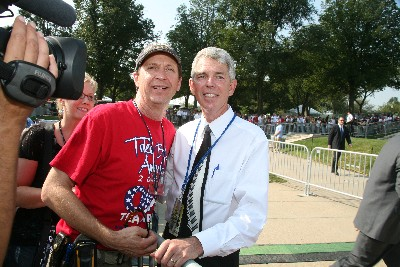 "Our ""official"" photographer Don Spencer and Historian David Barton."